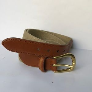 Coach Leather and Canvas Belt